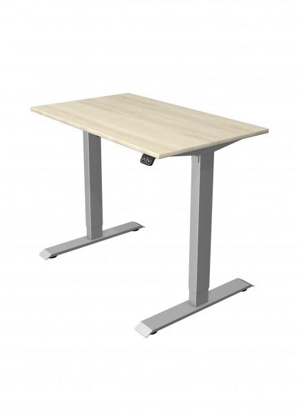 kleiner elektrisch höhenverstellbarer Schreibtisch 100x60 Ahorn