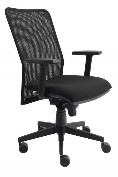 Schwarzer Bürostuhl mit Netzrücken