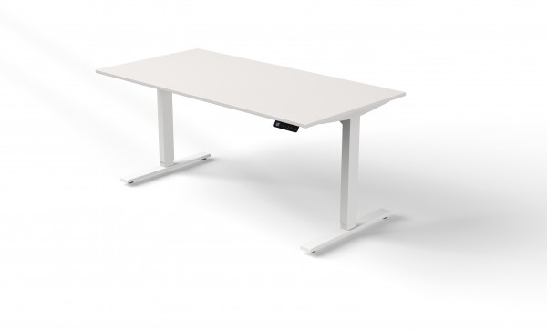 elektrisch höhenverstellbarer Schreibtisch 160x80 weiß