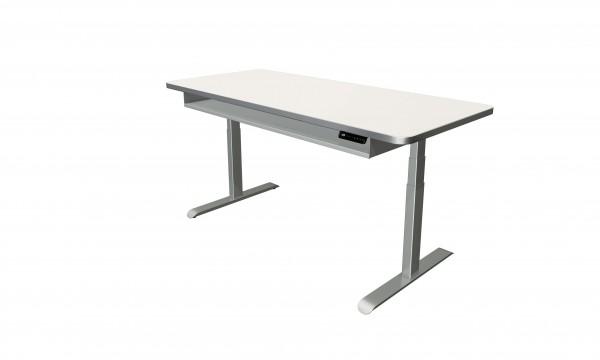 Elektrisch höhenverstellbarer Schreibtisch 180x80 weiß
