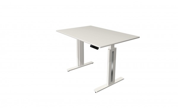 Elektrisch höhenverstellbarer Schreibtisch 120x80 weiß/ weiß