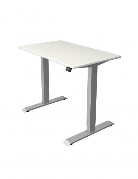 kleiner elektrisch höhenverstellbarer Schreibtisch 100x60 weiß