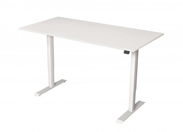 Elektrisch höhenverstellbarer Schreibtisch 180x80 weiß/ weiß