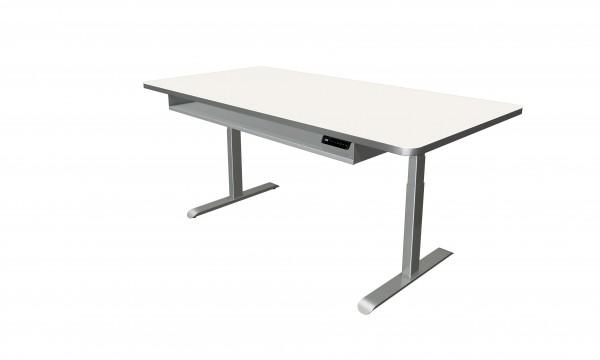 Elektrisch höhenverstellbarer Schreibtisch 200x100 weiß
